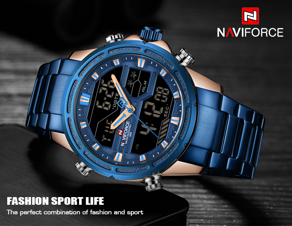 Top Luxury Brand NAVIFORCE Men Watches Military Waterproof LED Digital Sport Men's Clock Male Wrist Watch relogio masculino 3