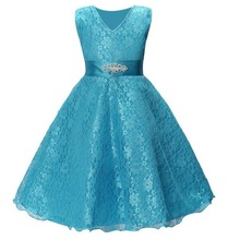 2019 Summer Girl Lace Dress Ball Gown Teen Girl Party Dress Elegant Children Clothing Kids Dresses Girls Princess Wedding Gown 2019 lace embroidery dress kids dresses for girl princess autumn winter party ball gown children clothing wear dress for girls