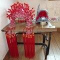 Китайская династия мин императрица волос диадемы Opear диадемы свадьбы невеста и жених волосы комплект Phoneix диадемы и топ один ученый шляпа