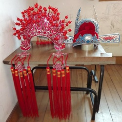 Chinese Ming Dynasty Empress Hair Tiaras Opear Tiaras Wedding Bride and Groom Hair Set Phoneix Tiaras and Top One Scholar Hat