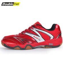 Профессиональная Обувь для настольного тенниса с двойной рыбой; супер светильник; спортивная обувь для дома для мужчин и женщин; обувь для тренировок без шлипа; DF008