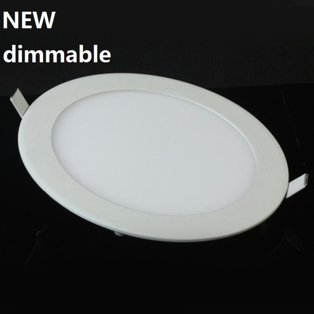 1vnt Dimmable Ultra plonas 3W / 4W / 6W / 9W / 12W / 15W / 25W LED lubų įleidžiamas tinklelis Downlight / Slim Round / Square Panel Light
