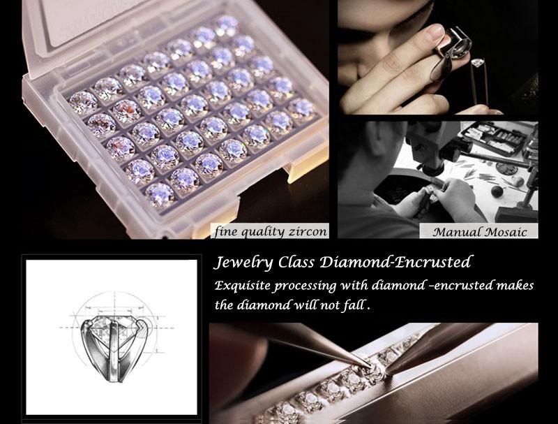 16 50M Waterproof Selberan Gold/Silver Natural Zircon Wrist Watch for Women Luxury Ladies Bracelet Watch Montre Femme Strass 6