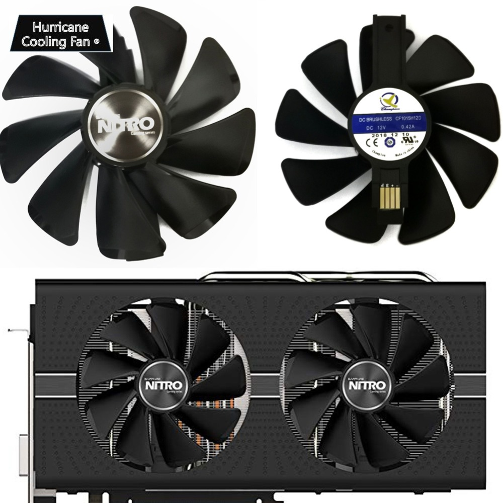 95mm CF1015H12D Graphics Card Cooler Fan for Sapphire NITRO RX480 RX470 8G RX 470 480 570