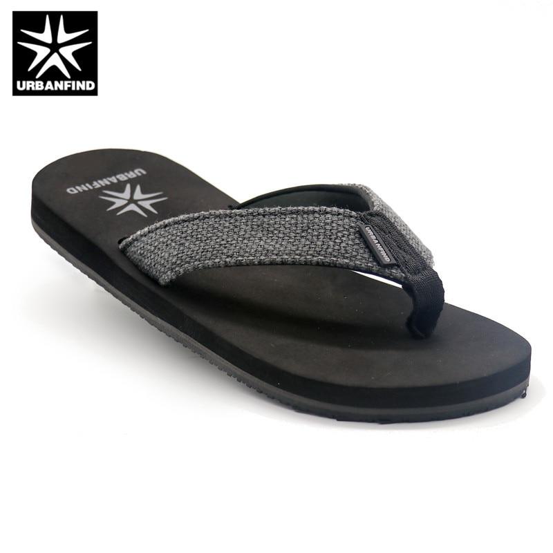URBANFIND Casual Men Slippers Flip Flops Size 41-46 Summer Shoes Home / Beach Footwear 2 Colors Black / Brown