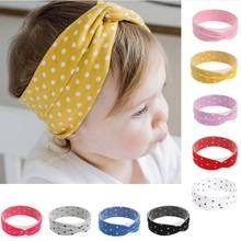 Head-Wrap Toddler Boho Knot Newborn Baby-Girls Twist-Top Grey