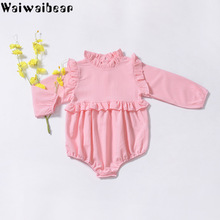 Baby Girls Rompers Spring Summer Newborn Clothes Long-Sleeved Ruffle Collar Infant Jumpsuit