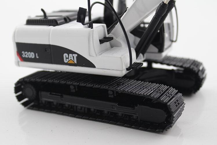 1:50 CAT320D гидравлический экскаватор с белыми игрушками