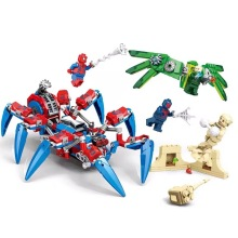 цена 457pcs Marvel Avengers Super Heroes Spiderman Spider Man Vs Venom Mech Building Blocks Brick Toy Compatible With Legoings онлайн в 2017 году