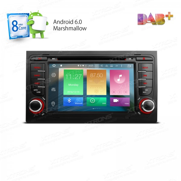Android 6.0 <font><b>Car</b></font> Radio Eight 8 Octa Core 32G ROM 2G RAM GPS Navigate For Audi S4 RS4 SEAT Exeo A4 4G TPMS 4K OBD2 RDS DAB+ Stereo