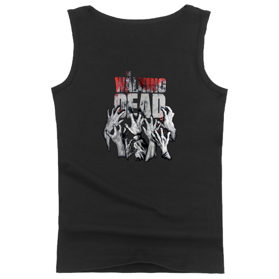 The Walking Dead Tank Tops Summer Fashion Style Clothes Sleeveless Workout Fashion Tank Top Fitness Men/Women Casual Vests