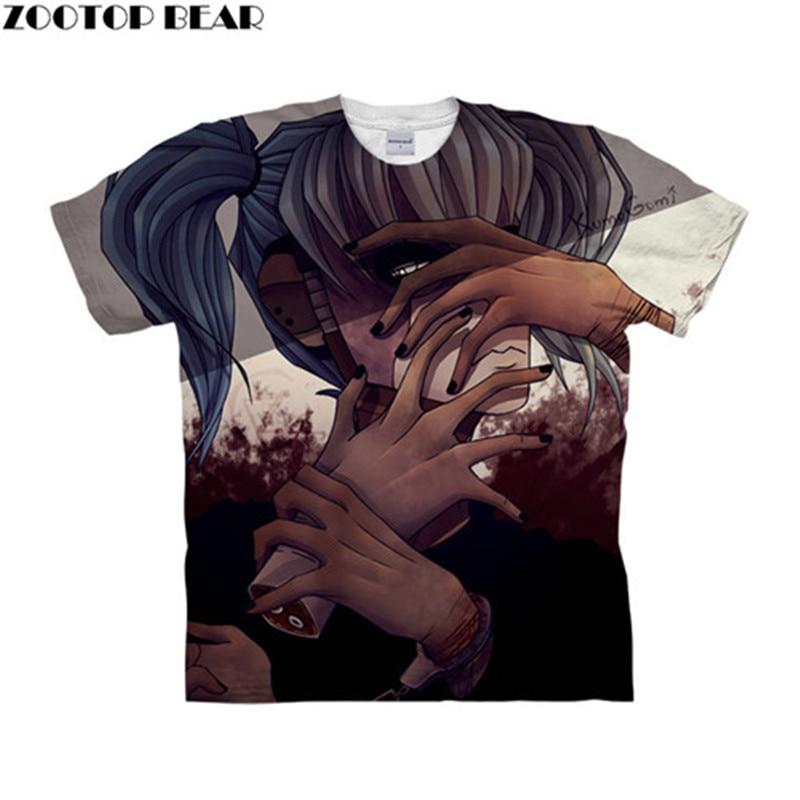 Sally Face Hurt Hands 3D Women t shirts Travel Summer tshirt Men t-shirt Tee Short Sleeve Shirts Streetwear Dropship ZOOTOPBEAR