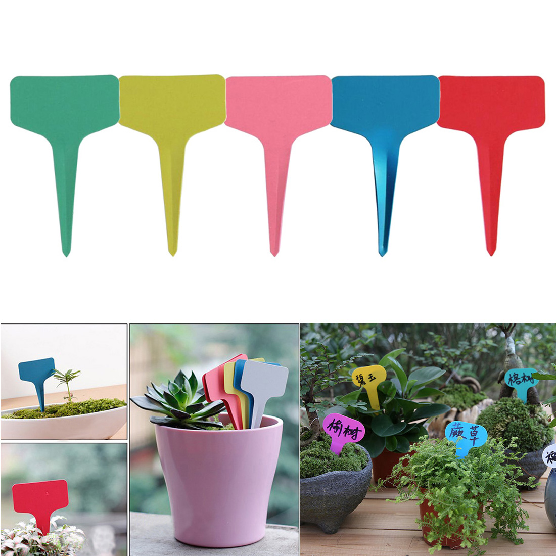 Garden Tools 20pcs Gardening Plant T Shape Waterproof Tags Flower Vegetable Planting Label Tools Farm Garden Seedling Tray Mark Garden Tools Pruning Tools