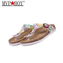 New Beach Cork Flip Flops Slipper 2017 Casual Summer Mixed Color Outdoors Valentine Sandals Flat Shoe Free Shipping Plus Size цены онлайн