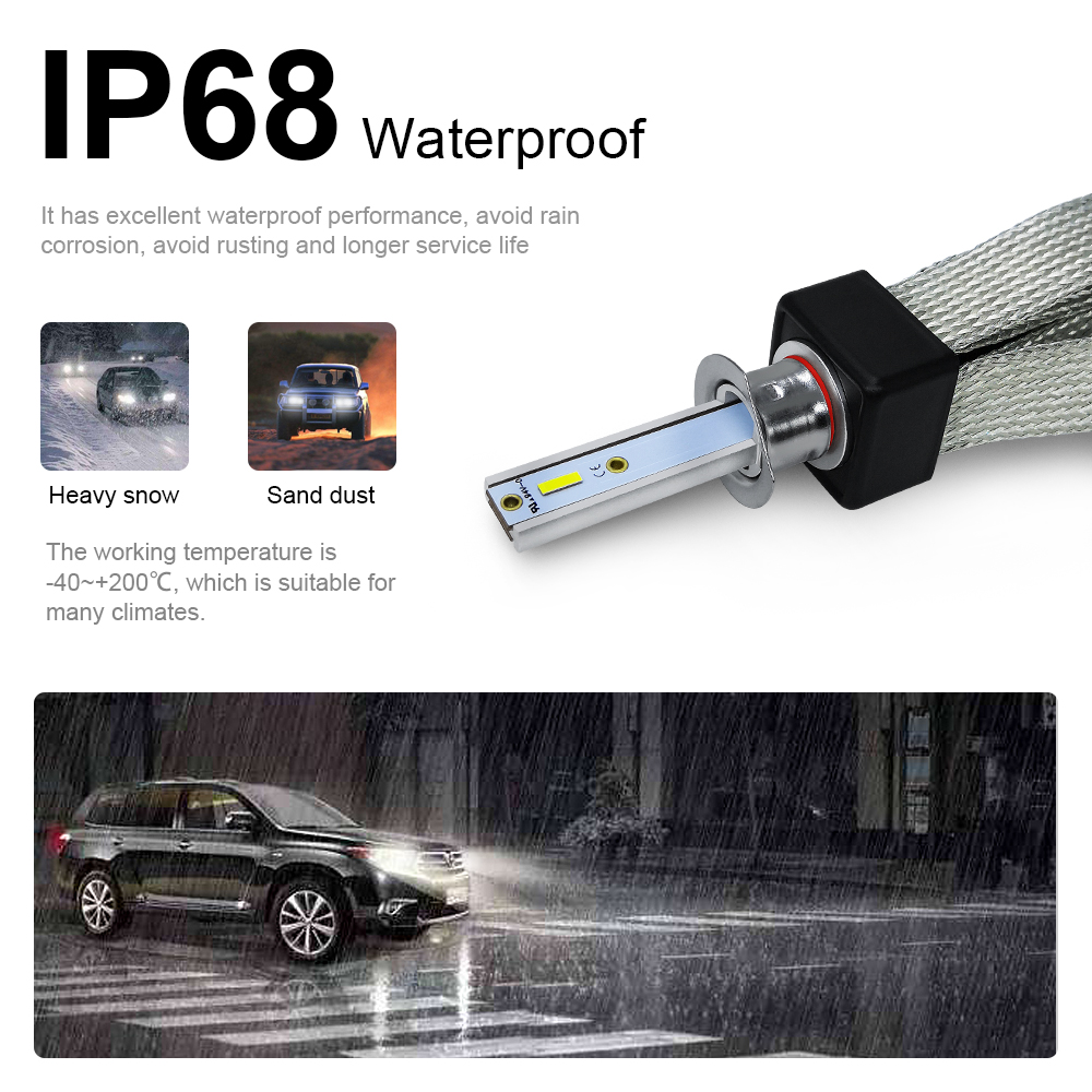 Image 3 - LSlight LED H7 H4 H1 9005 9006 H11 H3 880 9007 HB2 HB3 HB4 H27 LED Headlight 12V 60W 16000LM Auto Bulb Ampoule  Car Light Lamp-in Car Headlight Bulbs(LED) from Automobiles & Motorcycles