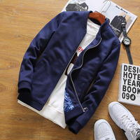 Autumn Mens Clothing Jacket Coat Men Blue Black Baseball Jacket Male Plus Size M 5XL Casual