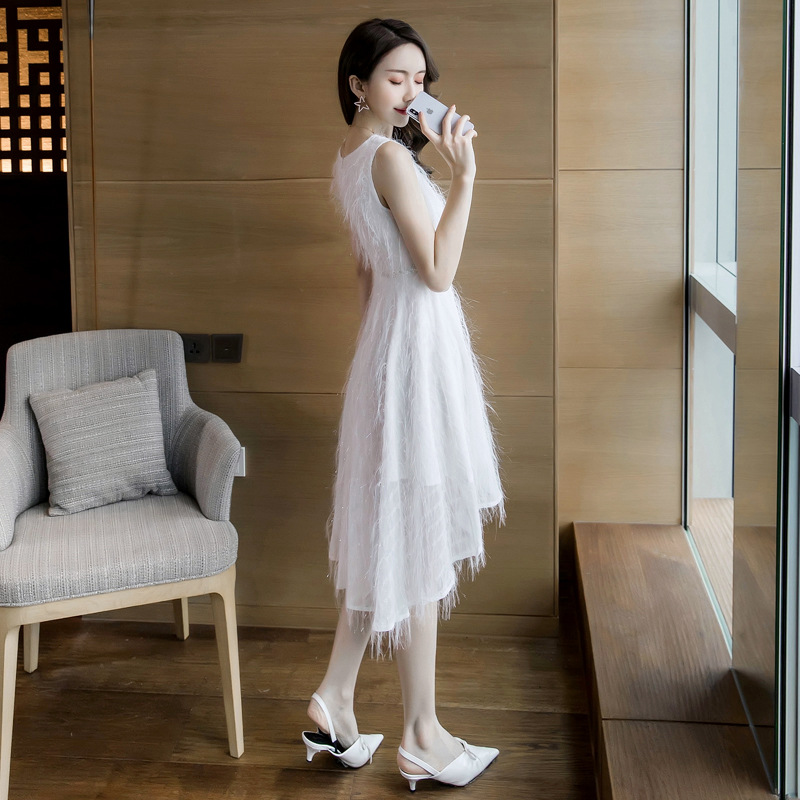 Formelle Gland De Grande Robe Femmes Femme Tenue Pink White Fête NwOPk0X8n