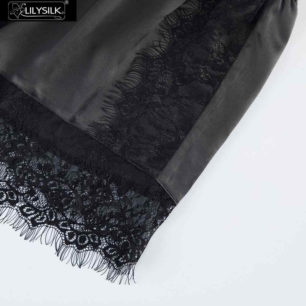 LilySilk jedwabne szorty koronkowe 19 Momme damskie Utral miękkie wygodne śliczne klubowe modalne figi bielizna krótkie