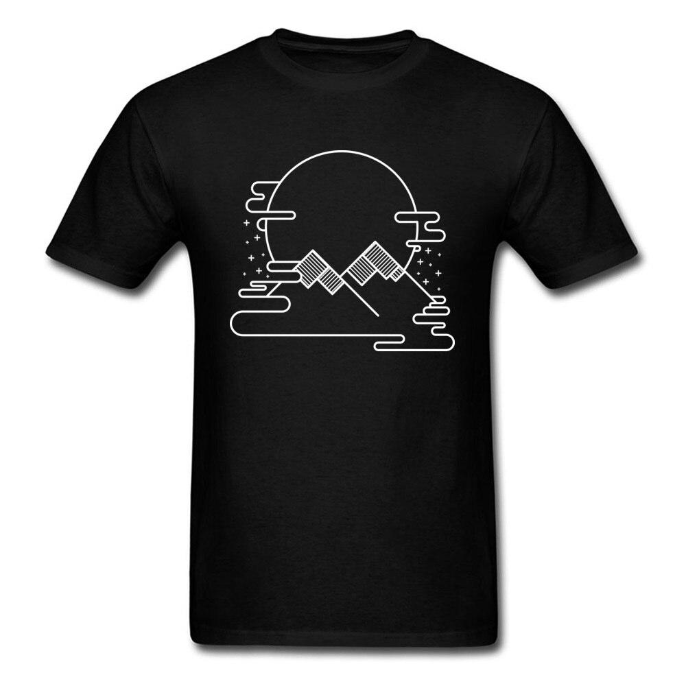 Men T Shirts Full Moon Rises Men Tshirt Twin Peaks 2018 Simple Geometry Graphic University T-Shirt For Men 100 Combed Cotton
