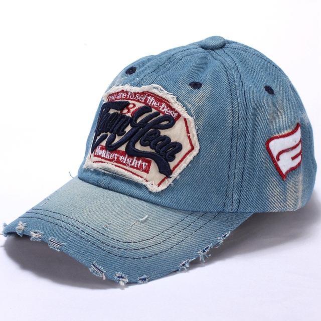 730b31874 2017 New Kids Cotton Caps Boys Baseball Caps Summer Jean Hats Children Caps  Girls Baseball cap 3-8 Ages Baby Children Hat gorras
