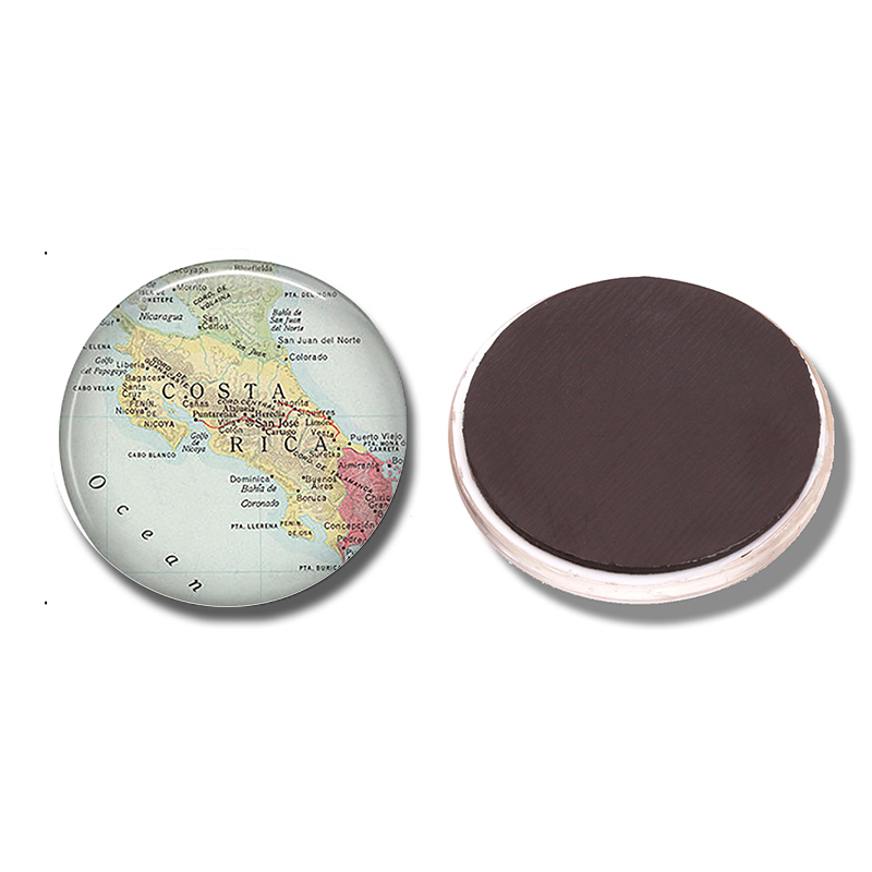 Cheap American Fridge Part - 30: Costa Rica Map 30MM Fridge Magnet American Isthmus Map Glass Cabochon Note  Holder Magnetic Refrigerator Stickers