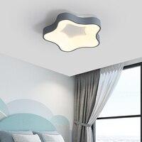 Modern ceiling lights LED lamp for living room bedroom studio white color black surface mounted ceiling lamp Deco AC85 265V