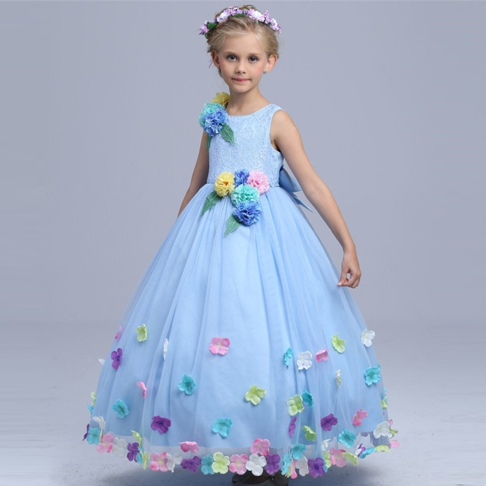 High quality cinderella flower fairy costume girls summer for Dresses for wedding for kids