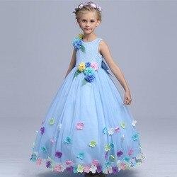 High quality cinderella flower fairy costume girls summer maxi dress kids princess wedding dresses children performance.jpg 250x250