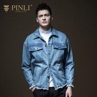 Джинсовая куртка в стиле милитари Специальное предложение Jaqueta Masculino Pinli булавки Li Осень Новый для мужчин промывают, старый носить ковбой