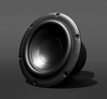 2PCS Original German Nubert 5 5inch Super Bass Woofer Speaker Driver Unit Double Magnet Casting Aluminum