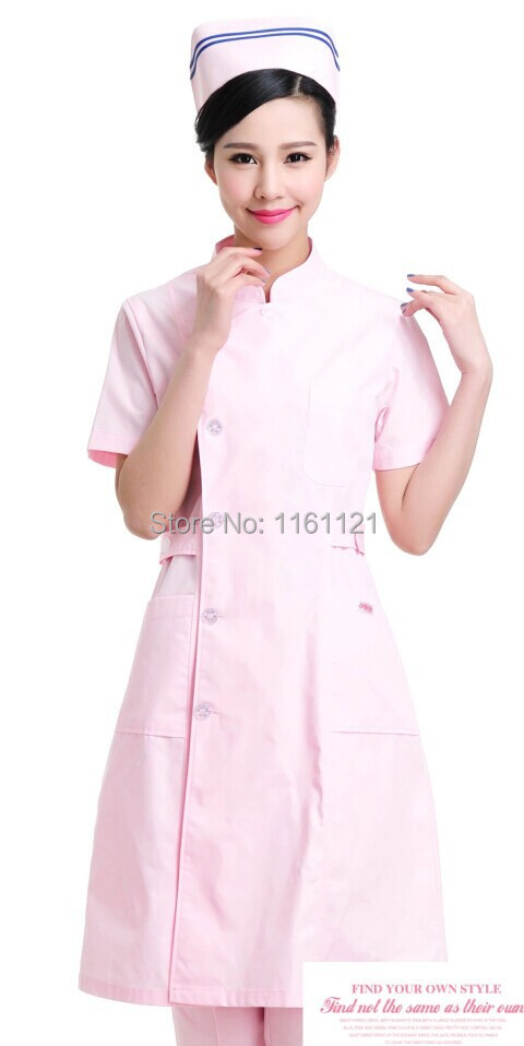 2015 Sale Surgical Cap Lab Coat Jalecos Womens Color Front Opening Nurse Uniform Clothing for Work In Hospital,medical Store