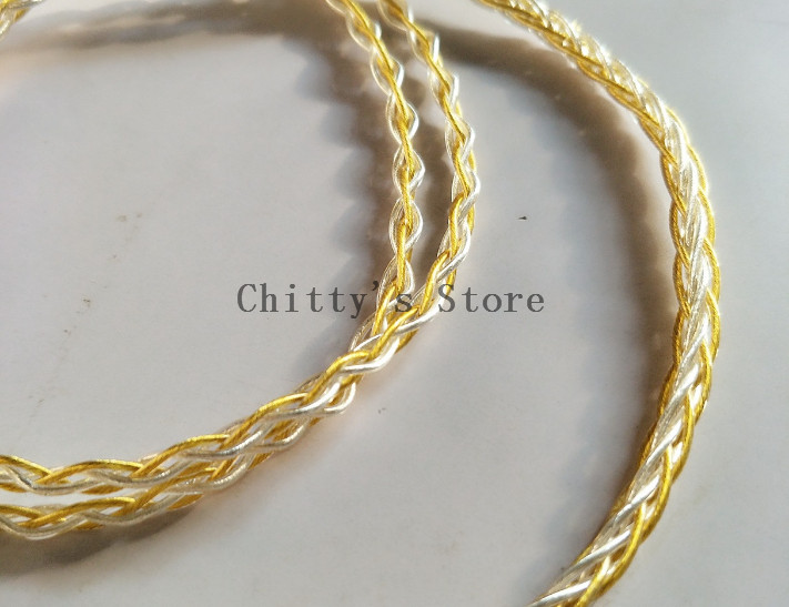 DIY earphone wire 7n single crystal copper wire silver plated wire gold plated 8share without plug