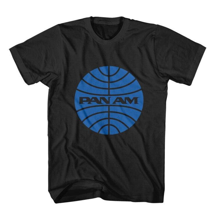 New Pan Am Retro Logo Unisex t-shirt USA logo Sizes Mens Clothing
