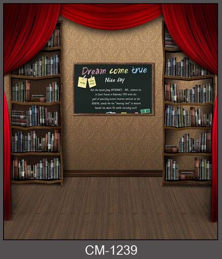 Custom Vinyl Doek Bibliotheek Boekenplank Podium Rode Gordijn Fotografie Achtergronden Voor Kinderen Kids Fotostudio Portret Achtergronden Prijsafspraken Volgens Kwaliteit Van Producten