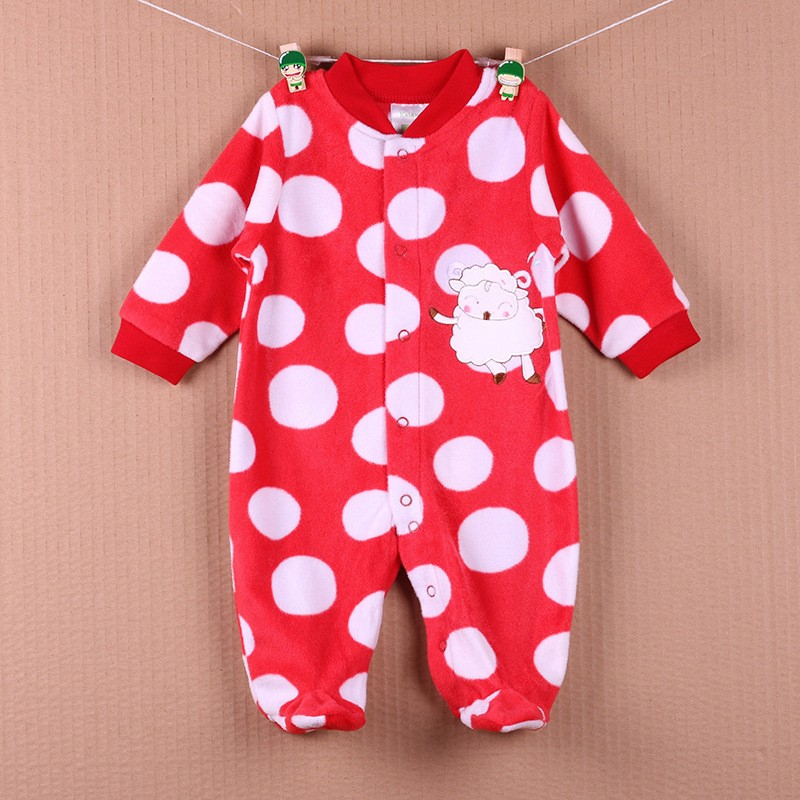New Arrival Baby Footies Boys&Girls Jumpsuits Spring Autumn Clothes Warm Cotton Baby Footies Fleece Baby Clothing Free Shipping (17)