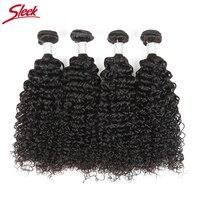 Sleek Mogolian Kinky Curly Hair Weave 100 Remy Human Hair Bundles Extension 10 30 Inch 1