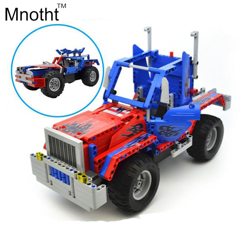 Building Blocks Remote Control Cars Trucks Etc Creative Assembly DIY Educational Toys Assembled Electric Vehicles Gift for Baby