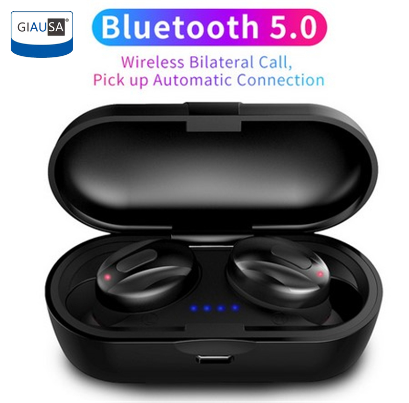 GIAUSA XG13 <font><b>TWS</b></font> IPX5 Bluetooth V5.0 Earphones Sport Wireless Dual Stereo Bass Earbuds Handsfree For iPhone Samsung Huawei Xiaomi image