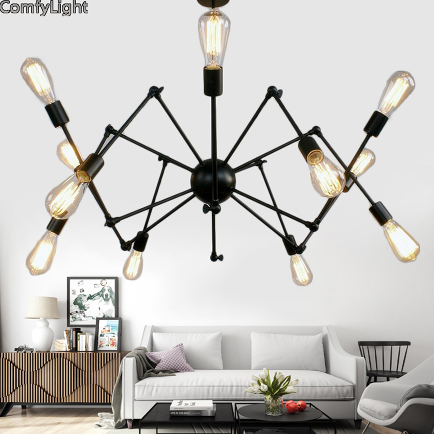 Chic Lamps: Iron Multiple Ajustable DIY Ceiling Spider Lamp