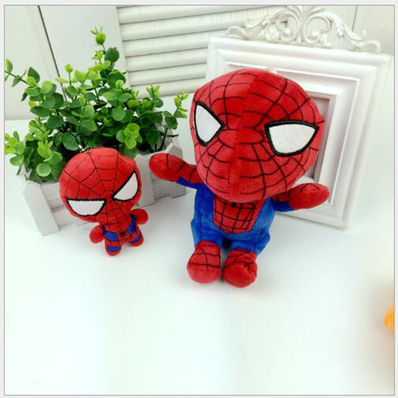 11cm 18cm Hot Filling Cartoon Animation Doll <font><b>Spiderman</b></font> Doll plush Toys Birthday Gift <font><b>Accessories</b></font> sized Part Number Optional x378