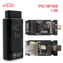 Op com para opel v1.70 v1.99 v1.59 obd2 OP-COM scanner de diagnóstico do carro real pic18f458 v1.99 opcom para opel flash firmware