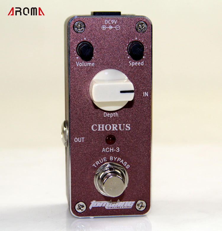Aroma ACH-3 Chorus Pedal with True Bypass Design focal chorus 714 rosewood