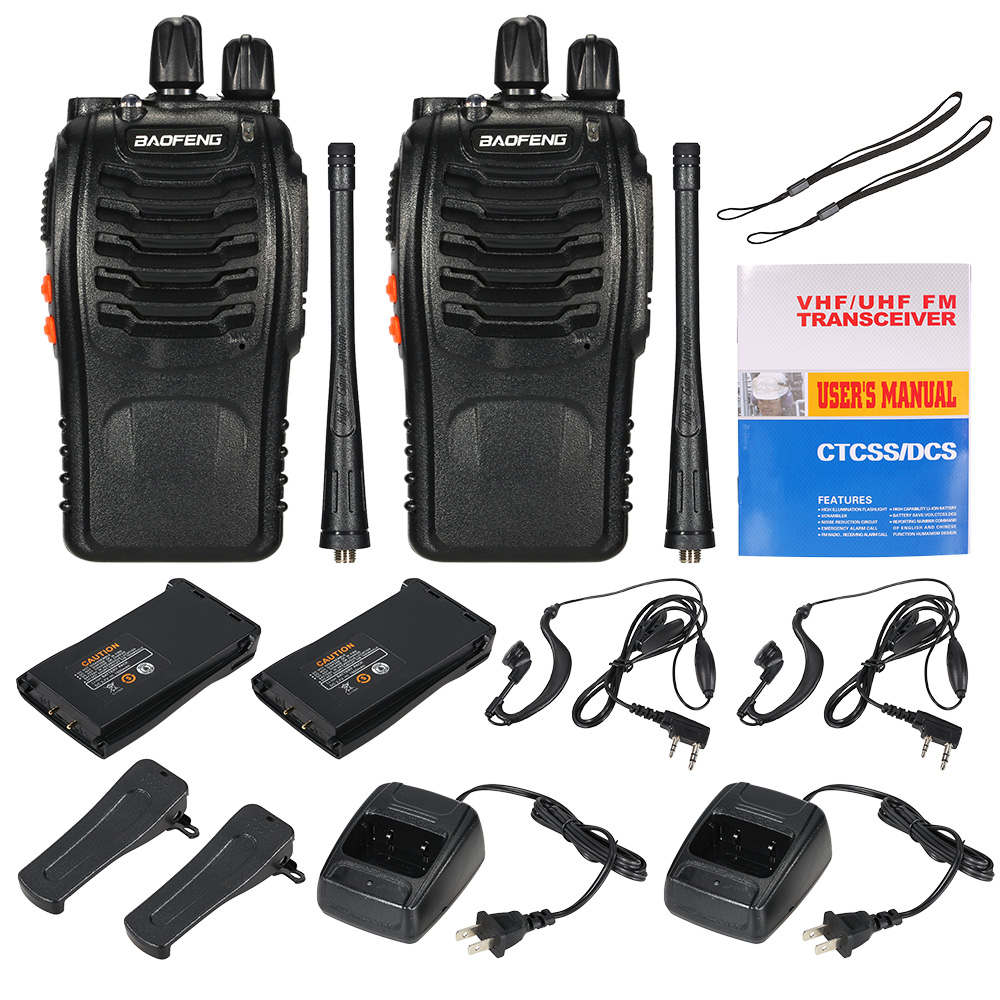 2 pcs Baofeng BF-888S Talkie Walkie 5 w Deux Way Radio bf 888 s UHF 400-470 mhz CB radio Communicateur Chasse Jambon Radio Station