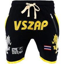 VSZAP guerreiro de POKER POKER shorts luta esporte da aptidão de artes marciais mistas espalhados lobos em execução.