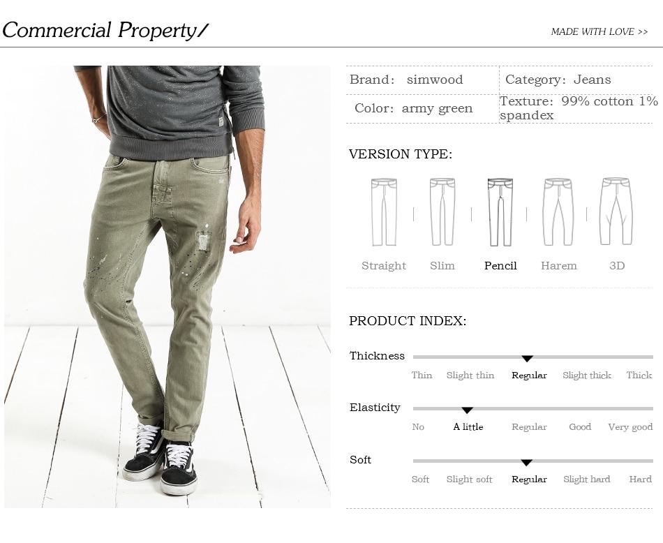 HTB1T3XZcRLN8KJjSZFPq6xoLXXaR - SIMWOOD Fashion Paint Splat 2019 Vintage Men Jeans Casual Hole Zipper Denim Pants Man Trousers Plus Size Free Shipping NC017053
