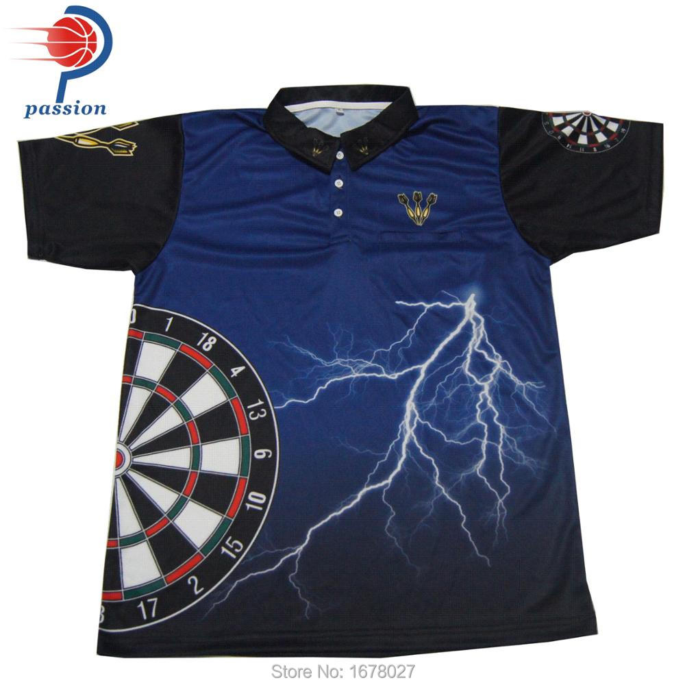 Top Quality Sublimation Dart Shirts 100 Polyester Polo Shirt Design