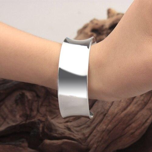 925 ювелирные изделия чистый серебро браслет женское glance quadrant отверстия вручную кольцо