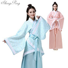 2018 new chinese folk dance fairy costume brocade women's classical hanfu costume traditional ancient chinese clothing CC399(China)