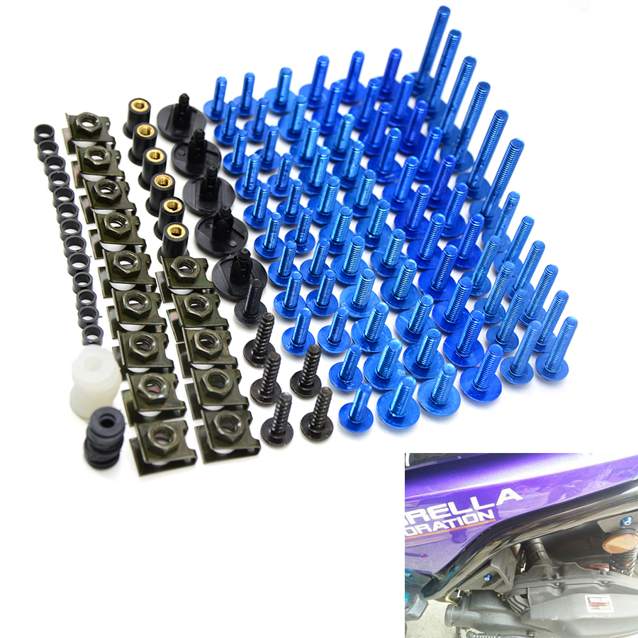 Universal Motorbike accessories Motorcycle Screws Vehi Bolts For cb1000r honda crf 450 yamaha yzf r125 ktm duke 200 motorcycle windscreen windshield bolts screws kit for honda transalp 400 600v xrv650 st1100 xl1000v cbr600rr 900 1000 cbr929 cbr600f 1000f