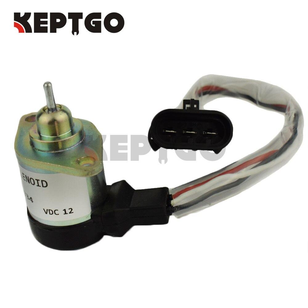 6689034, 1G577-60011 Fuel Stop Solenoid 12v For Bobcat A300 A770 S300 S770 T250 T300 T320